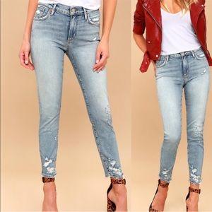 AGOlDE Sophie High Rise Light Wash Skinny Jeans